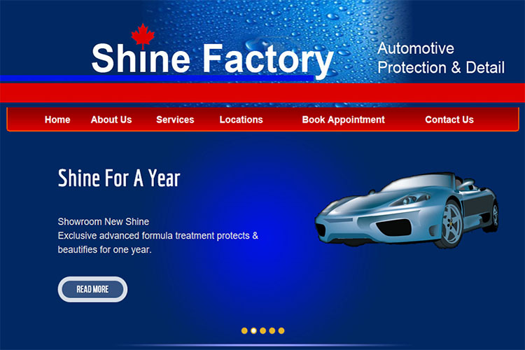 Shine Factory website design hosting and development Montreal halifax nova scotia