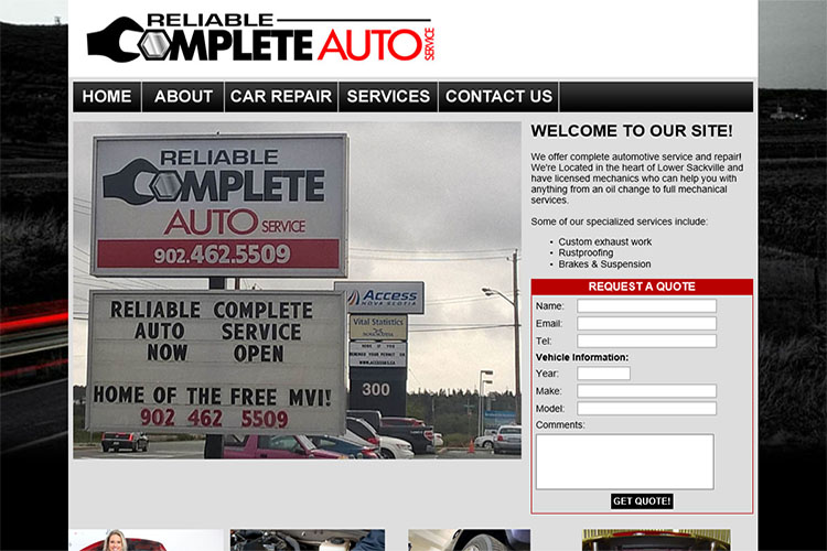 Complete Reliable Auto website design hosting and development Montreal halifax nova scotia